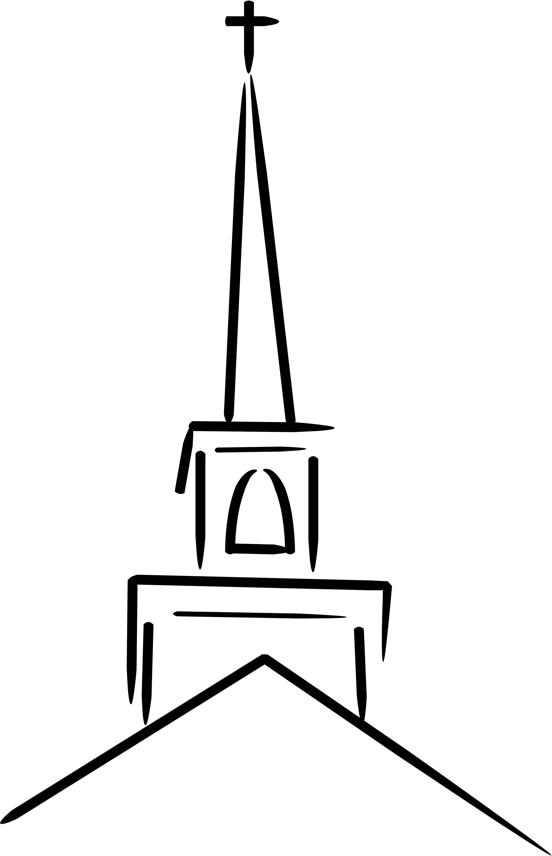 2129x3300 Steeple Clipart Black And White