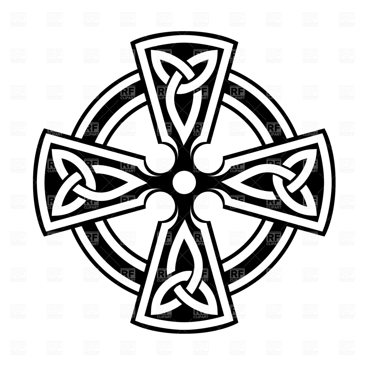 1200x1200 Celtic Cross Royalty Free Vector Clip Art Image