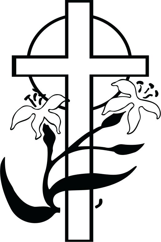cross clipart free black and white free download best easter lily clip art border easter lily clip art black and white border