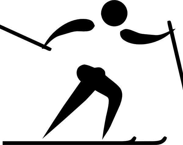 600x476 Olympic Sports Cross Country Skiing Pictogram Clip Art Free Vector