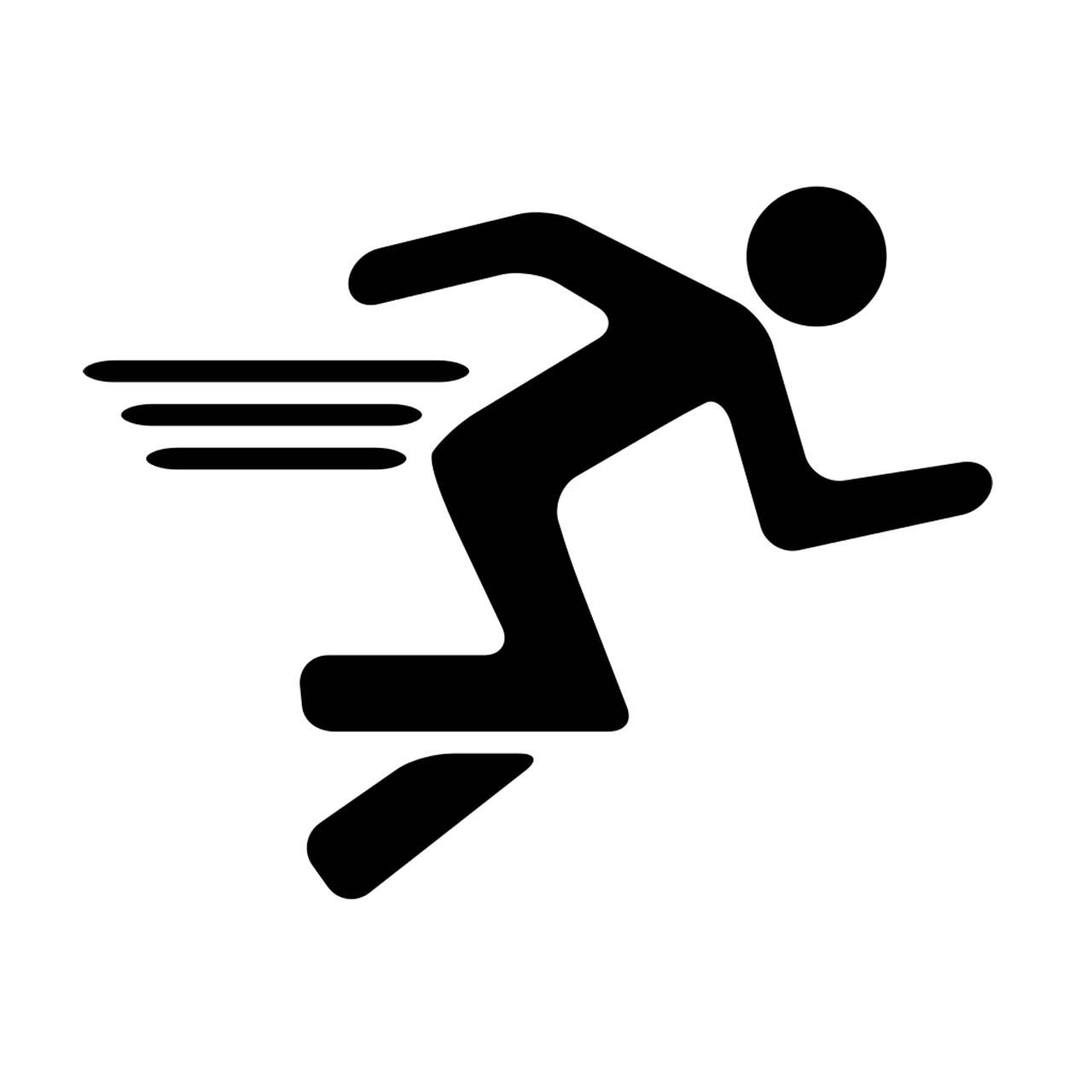 1280x1280 Cross Country Running Logo Clip Art