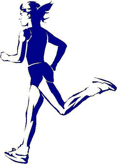 374x526 Girl Runner Clip Art