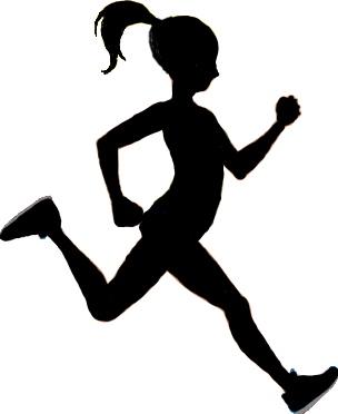 304x372 Girl Running Track Clipart