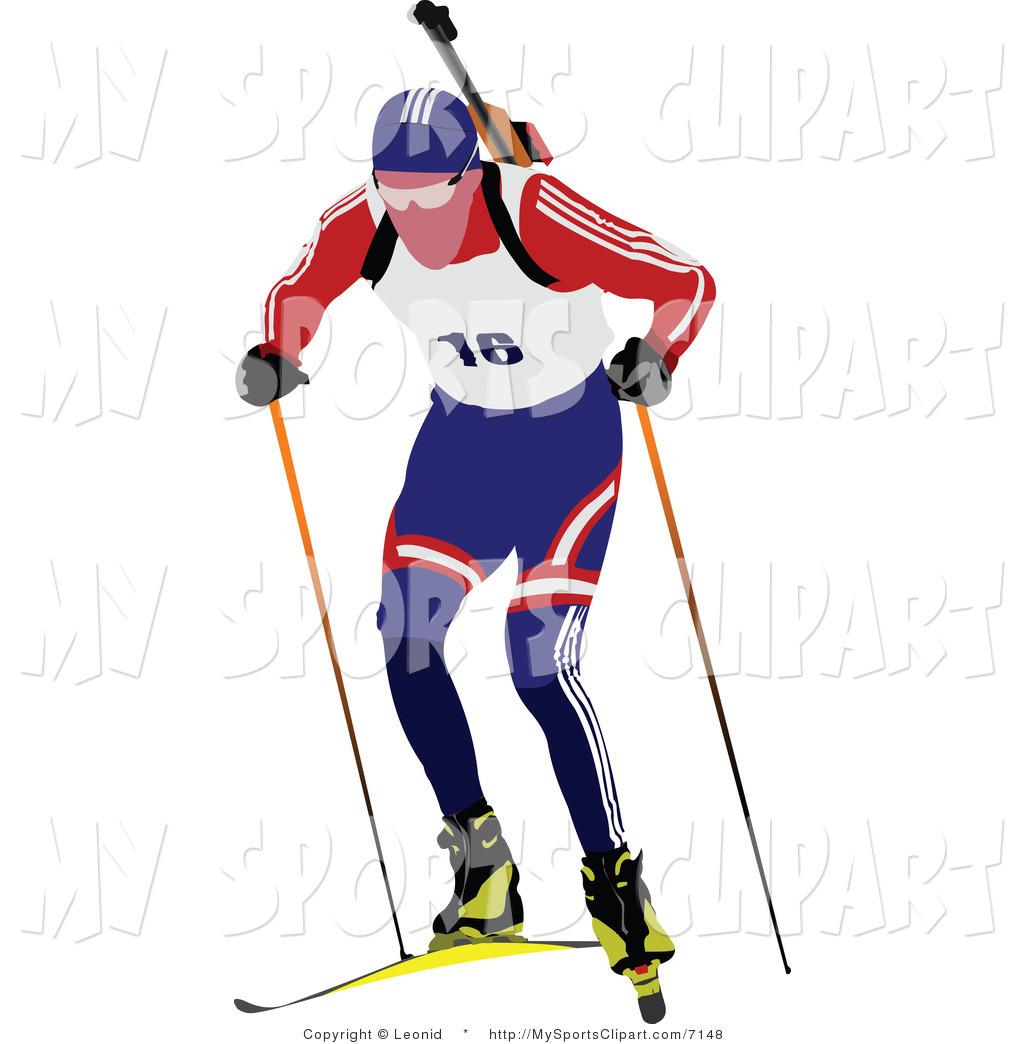 1024x1044 Sports Clip Art Of A Biathlon Runner Logo By Leonid