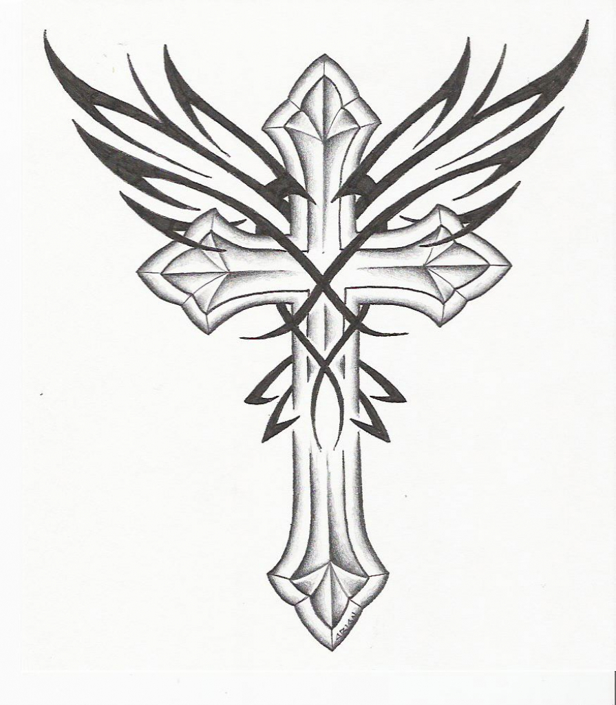 895x1024 Pencil Sketches Of Crosses Images About Crosses
