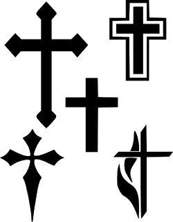Cross Silhouette Clipart
