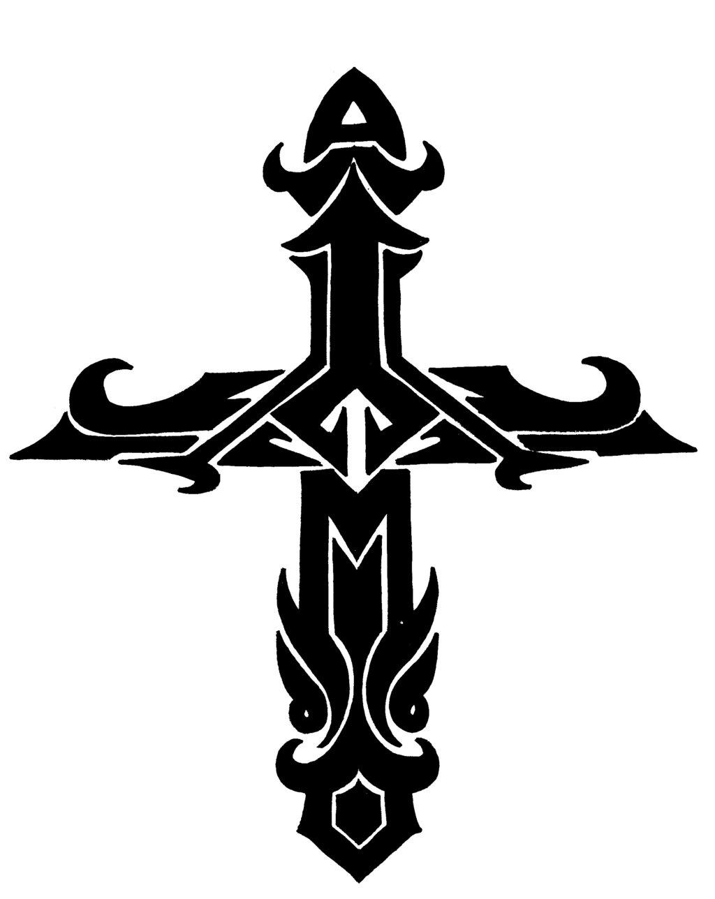 Cross Tattoo Transparent: Cross Transparent Background
