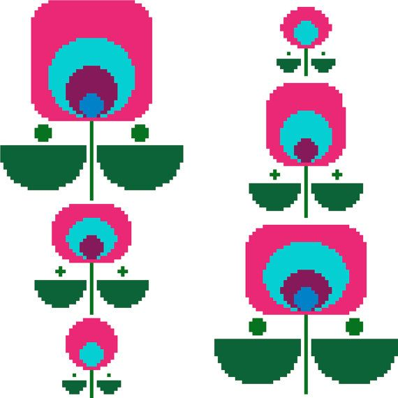 570x570 The Best Retro Flowers Ideas Retro Pattern