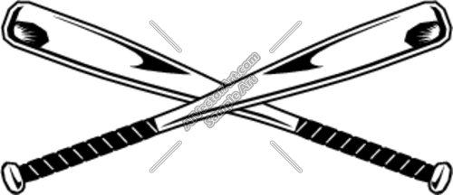 Crossed Baseball Bats