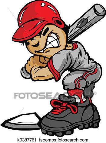 350x470 Clipart Of Kid Baseball Batter Holding Bat Vector Image K9387761