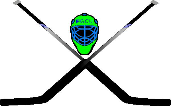 600x374 Hockey Mask Amp Crossed Sticks Clip Art