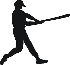 300x278 Image Of Clip Art Baseball Bat