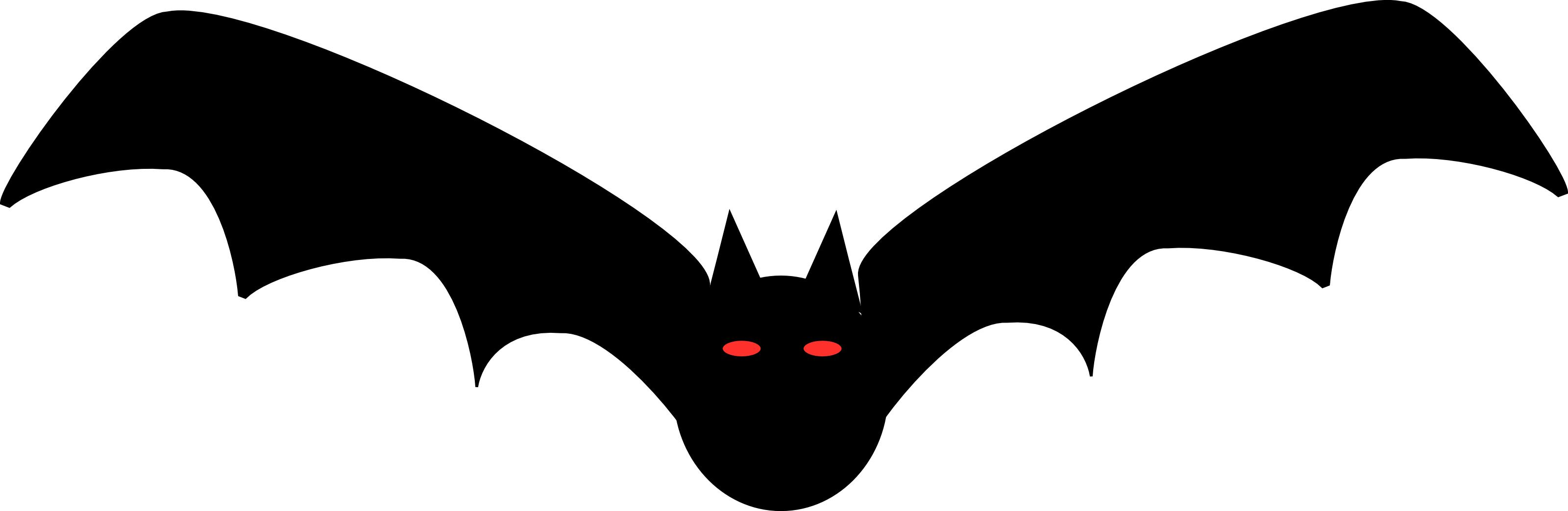 3200x1044 Top Black Bat Clip Art Vector Pictures
