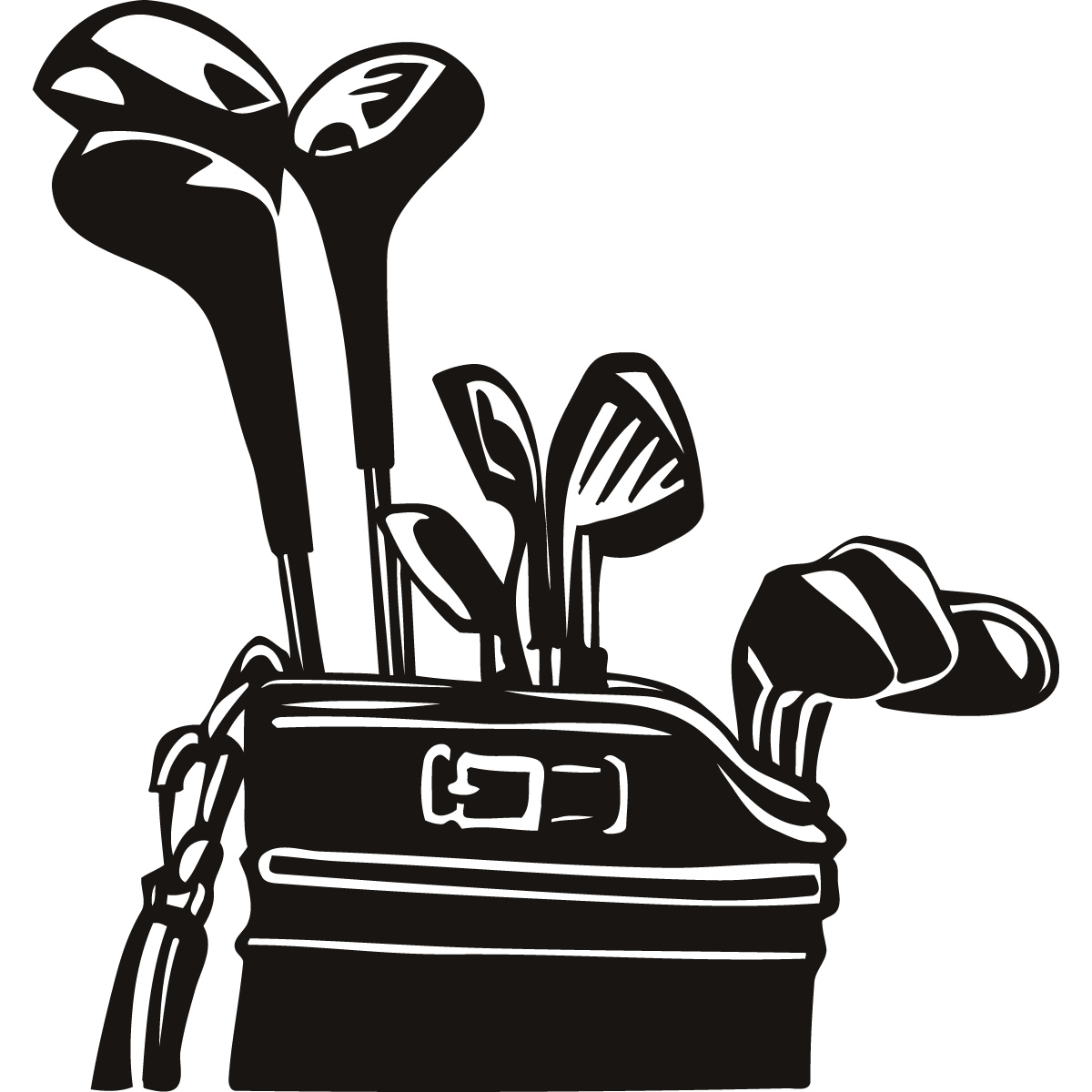 1200x1200 Golf Club Golf Bag Clipart
