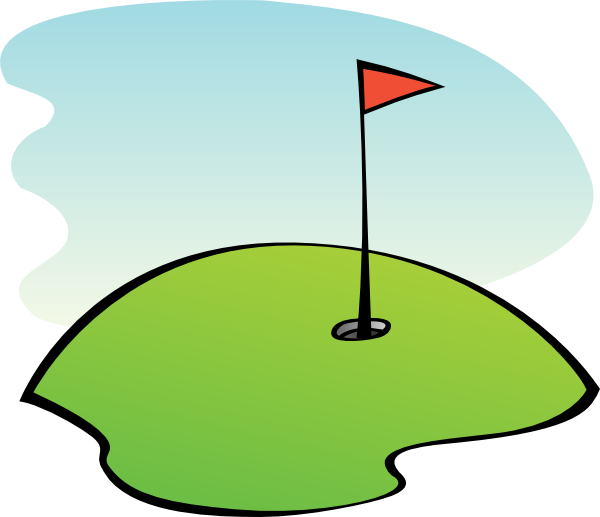 600x517 Golf Course Clipart