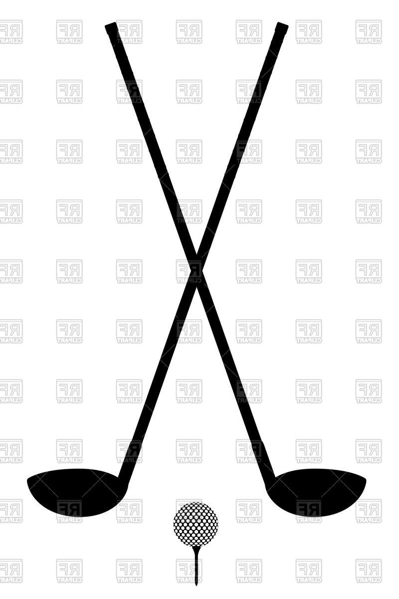800x1200 Hd Club And Ball Silhouette Golf Clipart Vector Cdr