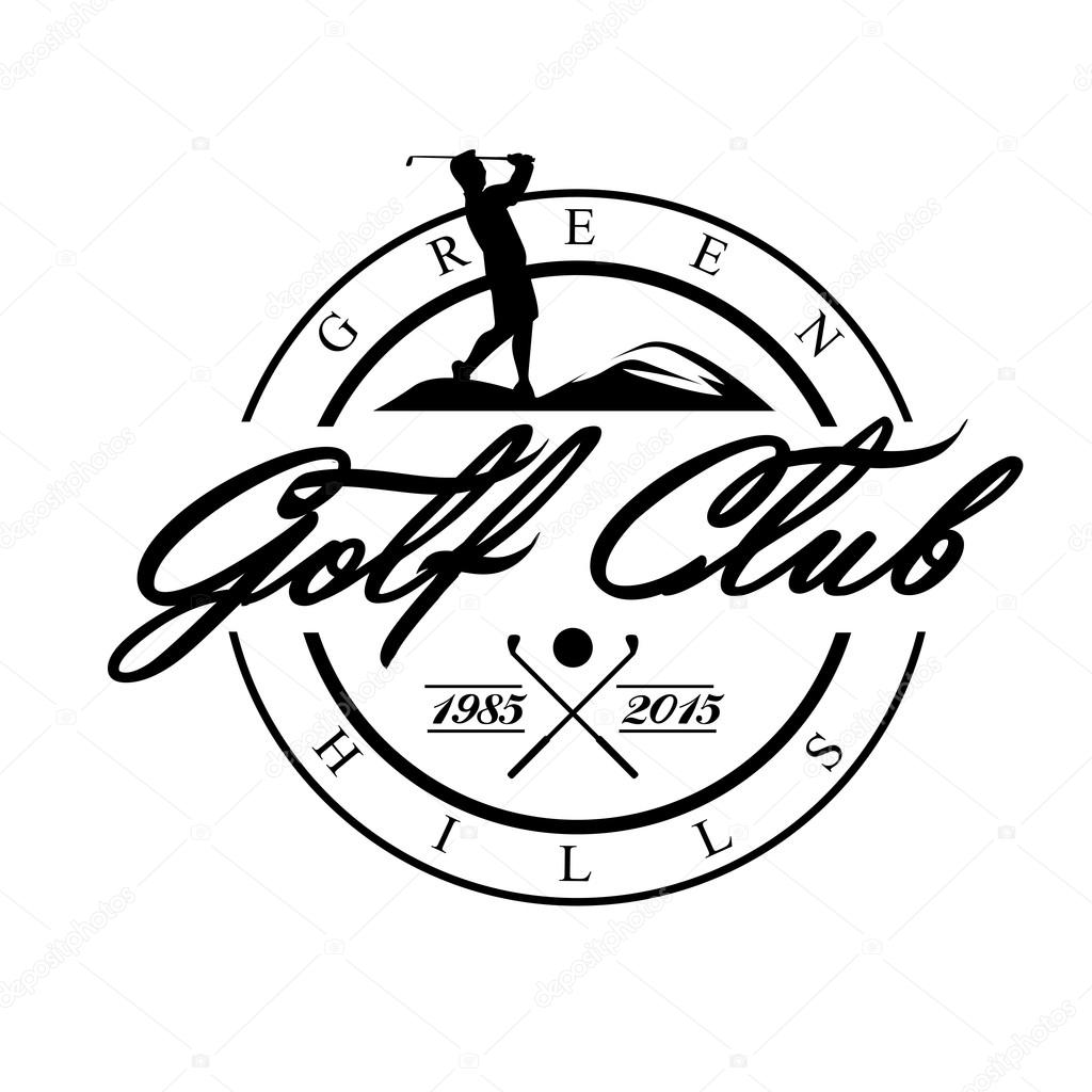 1024x1024 Golf. Emblems For Golf With Two Crossed Clubs, Ball.retro Label