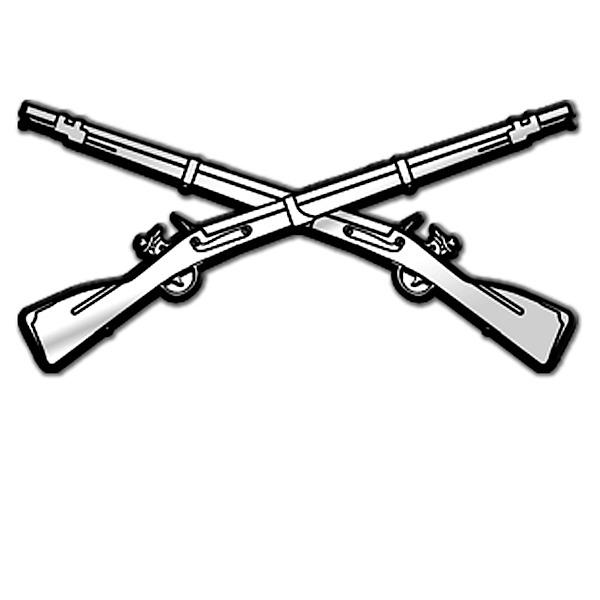 600x600 Crossed Guns Clipart