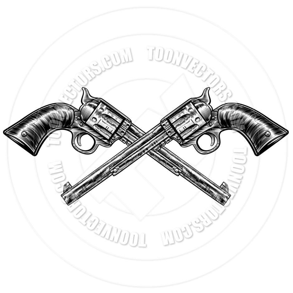 940x940 Crossed Pistol Guns By Geoimages Toon Vectors Eps