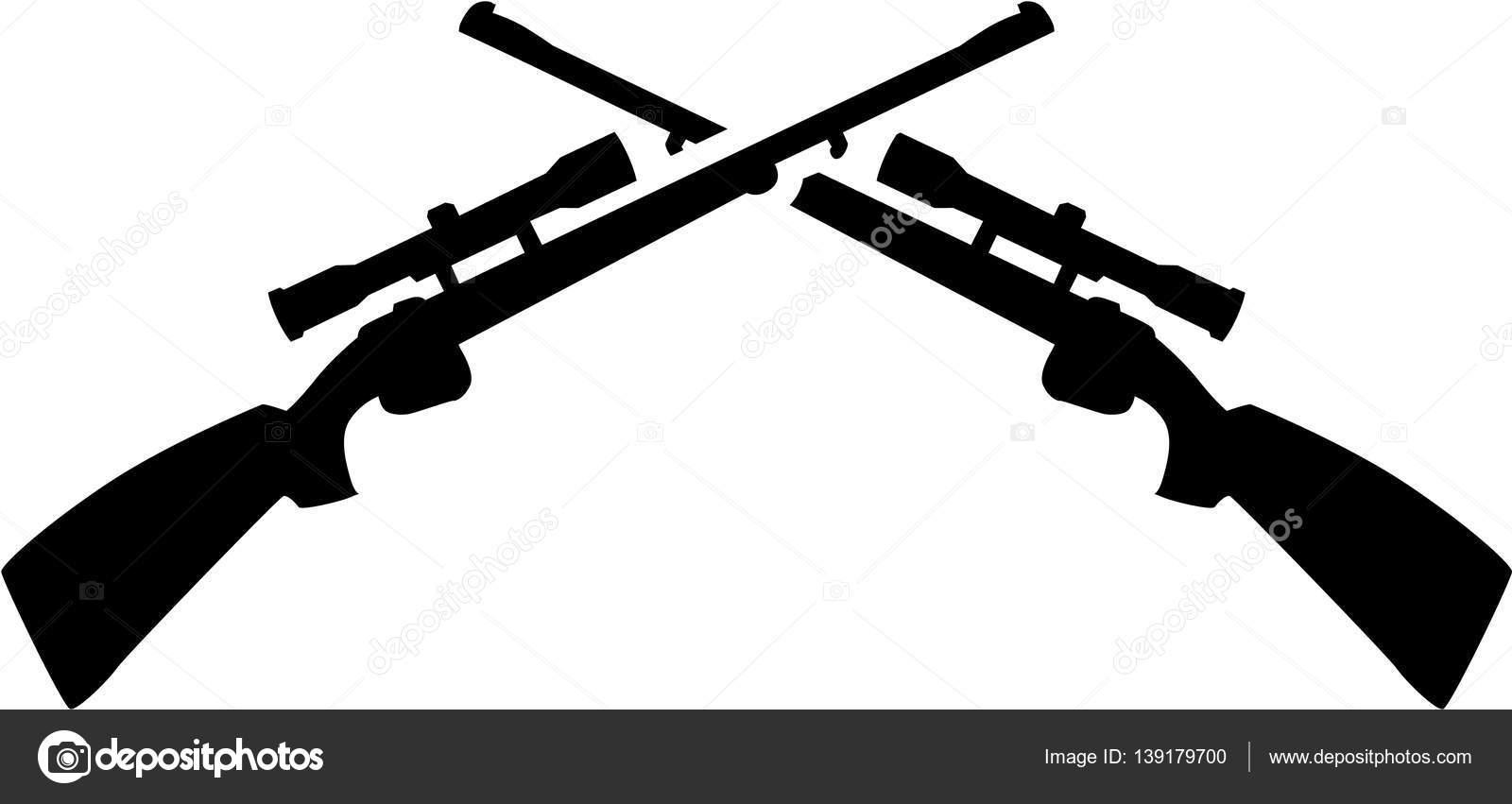 1600x851 Crossed Shotguns Vector Stock Vector Miceking