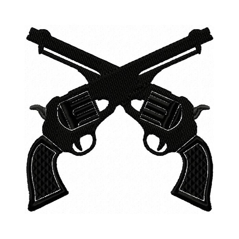 1000x1000 Gun Embroidery Design Six Shooter Cowboy Gun Western Gun
