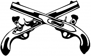 300x186 Military Police Cross Pistols Car Or Truck Window Decal Sticker