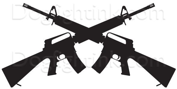 588x296 Rifle Custom Decals