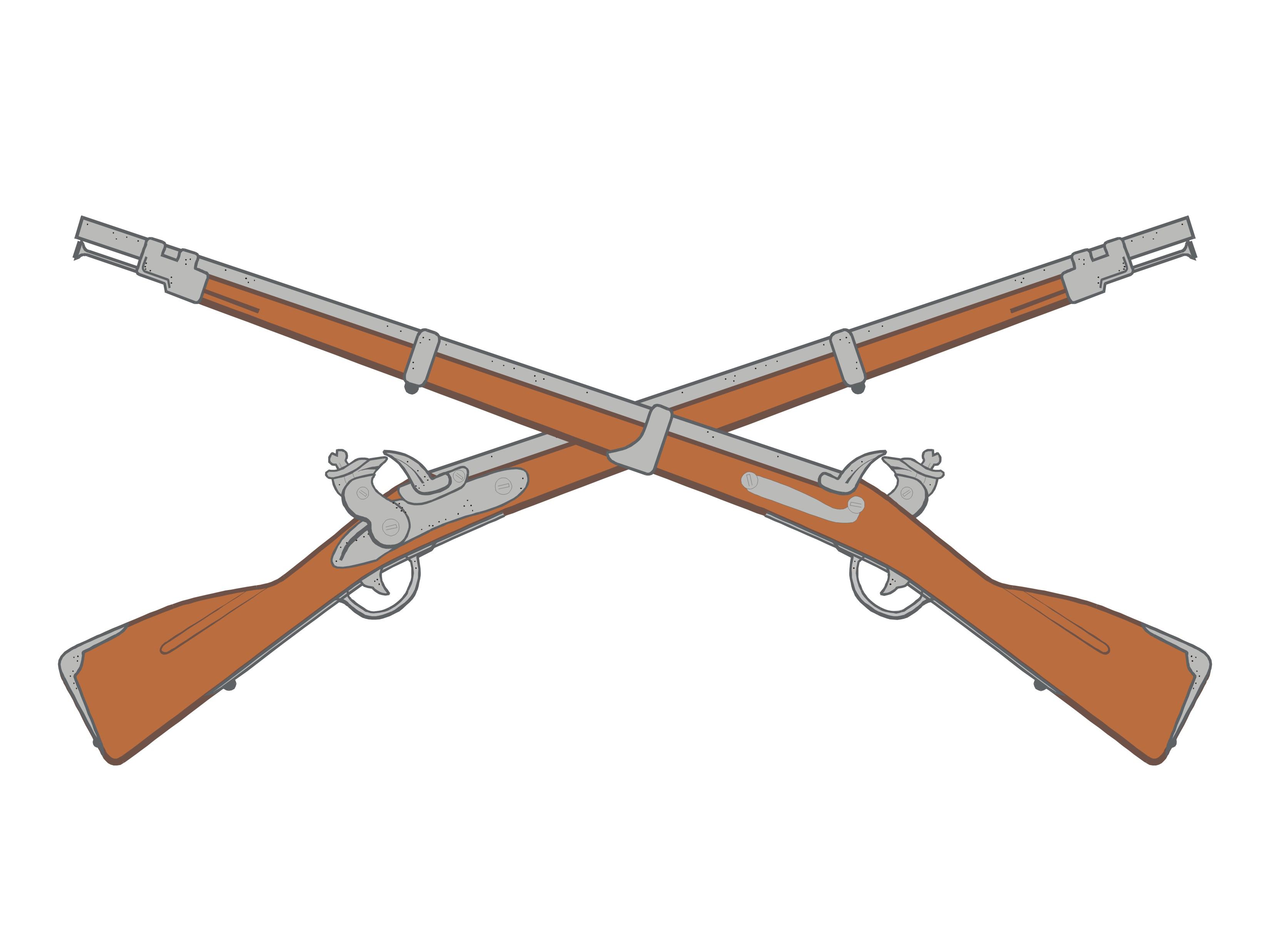 3300x2475 Shotgun Crossed Guns Clipart