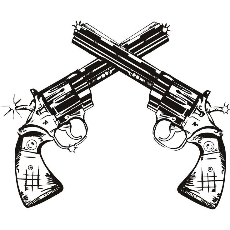 736x736 Weapon Clipart Crossed Gun