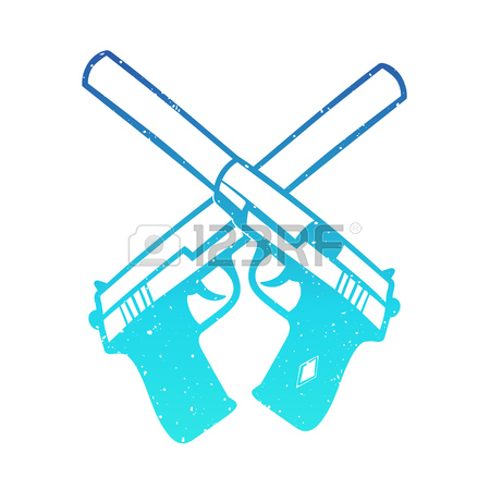 Crossed Guns Clipart