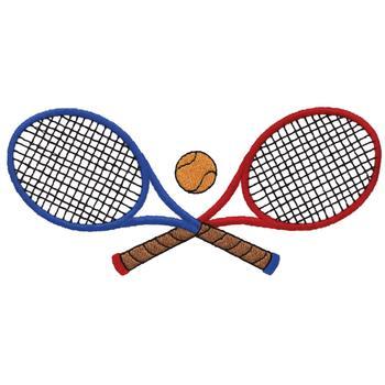 350x350 Crossed Tennis Racquets Embroidery Design Annthegran