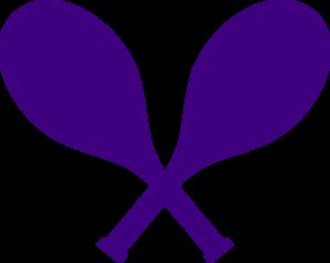 297x237 Purple Crossed Tennis Racquets Clip Art