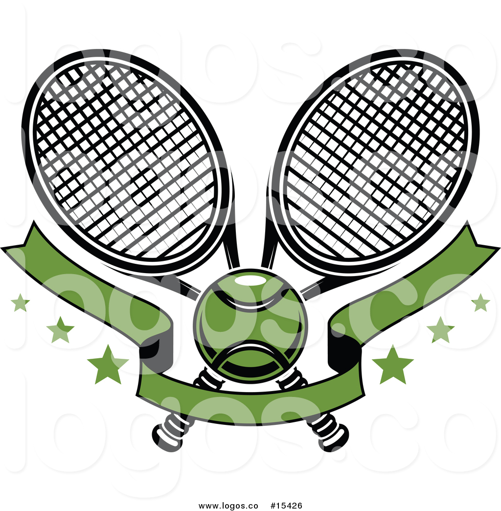 1024x1044 Royalty Free Vector Logo Of A Crossed Tennis Rackets With A Ball