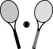 170x158 Tennis Rackets And Ball Clip Art
