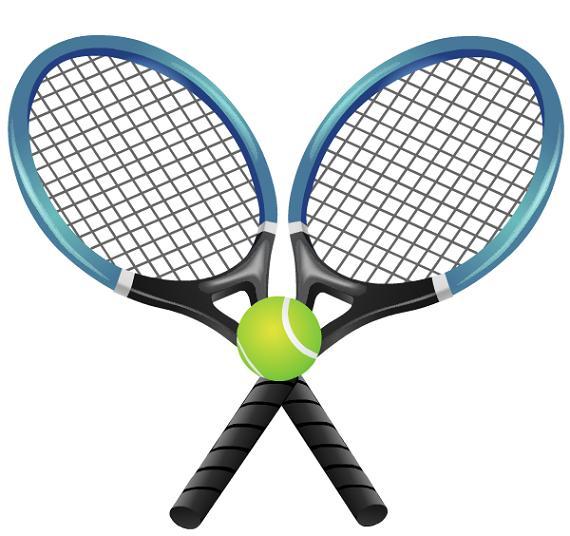 570x536 Blue Clipart Tennis Racket