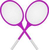 166x170 Clip Art Of Two Crossed Tennis Rackets K15878979