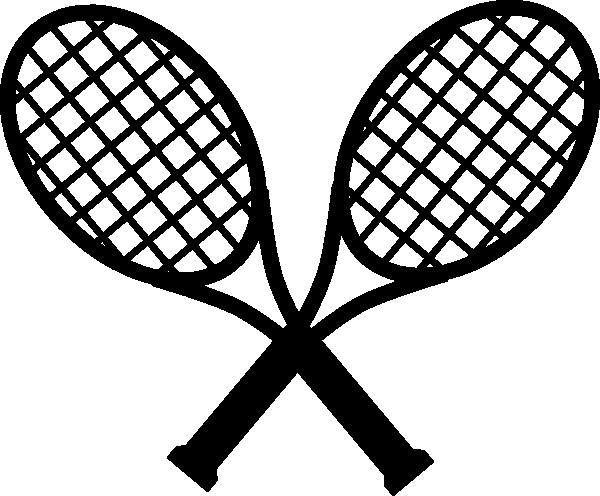 600x496 Crossed Racquets Clip Art