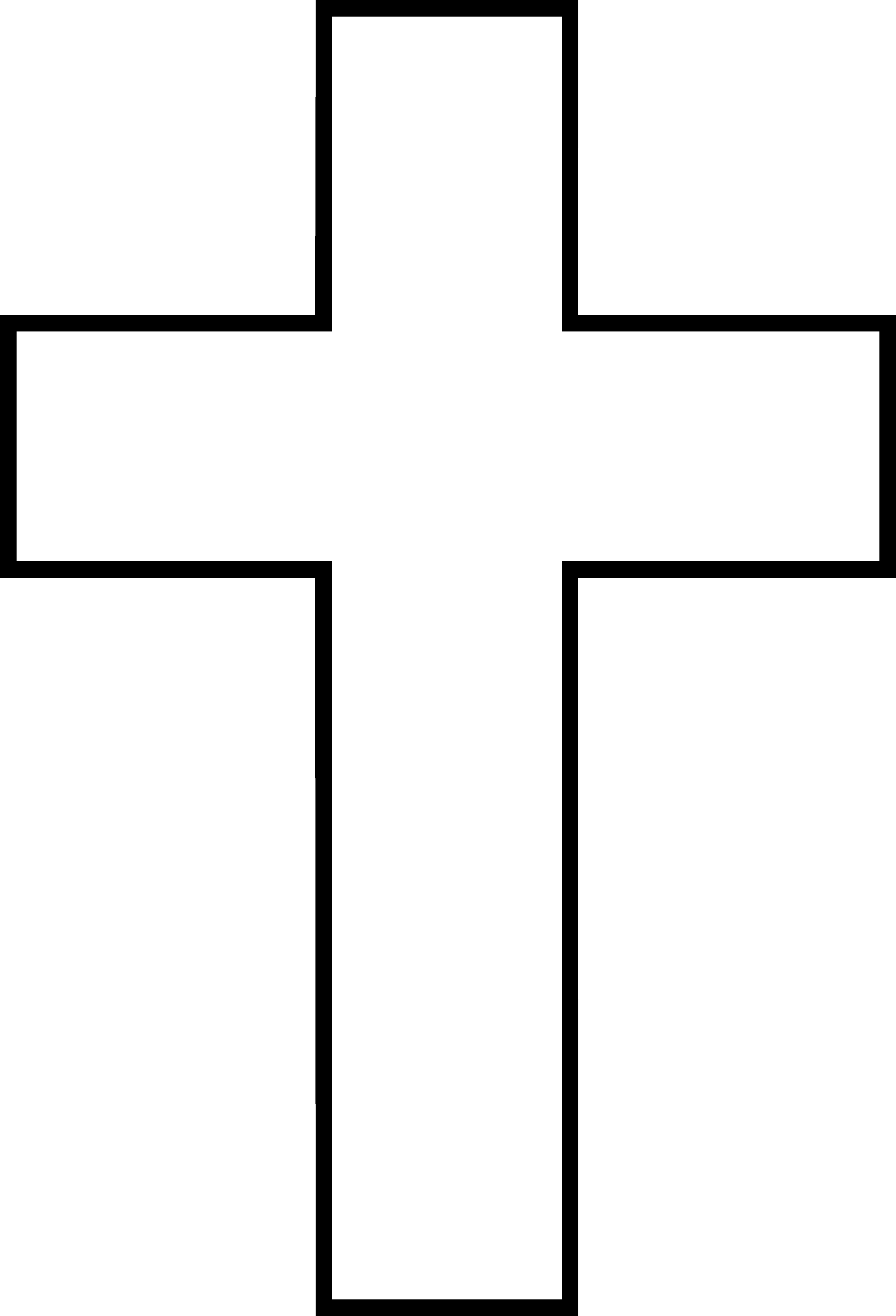5356x7864 Cross Clipart Black And White