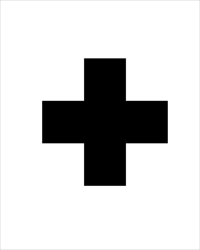 640x800 Diy Swiss Cross Wall Art Made In A Day