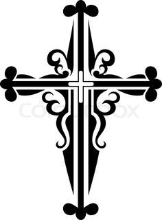 236x320 Set Of Religious Cross Symbols Isolated On White Stock Vector