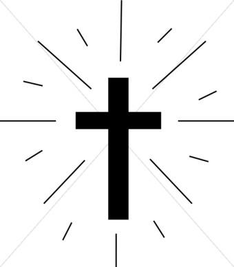 340x388 Simple Cross Clipart