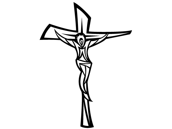 600x450 Black And White Clipart Of Jesus On The Cross