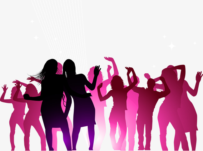 650x484 Concert Crowd Cheering People Silhouettes Vector, Cheering Crowd
