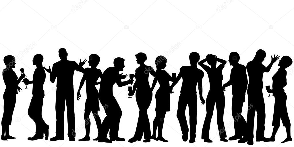1024x512 Crowd Silhouette Stock Vectors, Royalty Free Crowd Silhouette