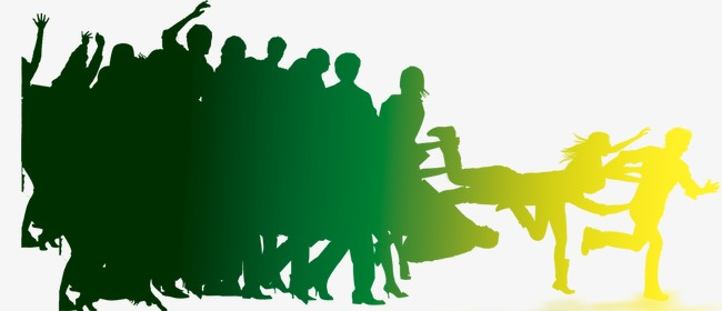 650x280 Exquisite Aesthetic Crowd Silhouette, Beautiful, Fine, Crowd Png
