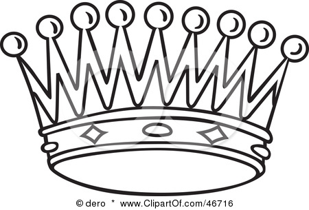 450x305 Black And White Crown Clipart