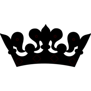 300x300 Crown Black And White Crown Clipart Black And White Vector Free