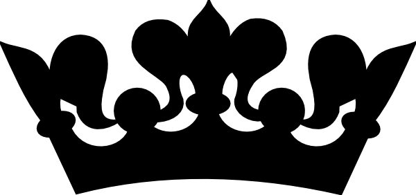 600x282 Crown Black And White Princess Crown Clipart Black And White
