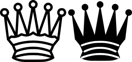 425x200 Crown Clipart White Queen