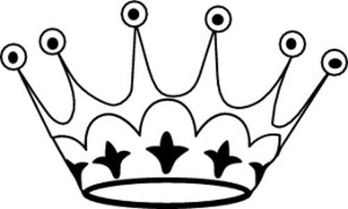 500x300 Crown Tiara House Black And White Clipart Kid